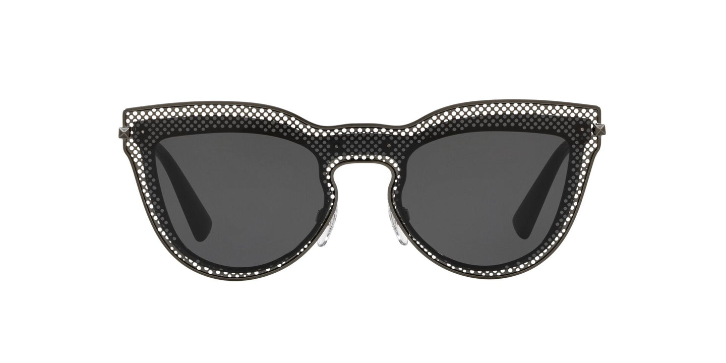 Valentino - VA2018 Ruthenium Cat Eye Women Sunglasses - 33mm
