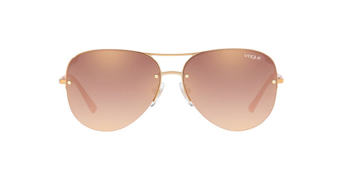 Vogue - VO4080S Light Pink Gold Aviator Women Sunglasses - 58mm