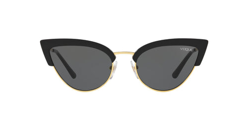 Vogue - VO5212S Black/Gold Cat Eye Women Sunglasses - 55mm