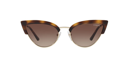 Vogue - VO5212S Havana/Pale Gold Cat Eye Women Sunglasses - 55mm