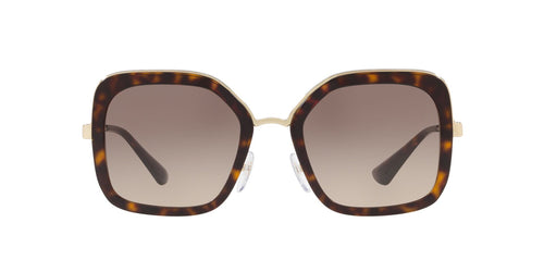 Prada - PR57US Havana Square Women Sunglasses - 54mm