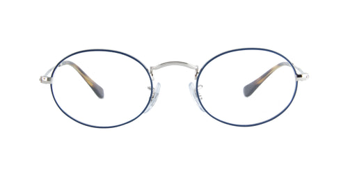 Ray Ban Rx - RX3547V Blue/Silver Oval  Eyeglasses - 48mm