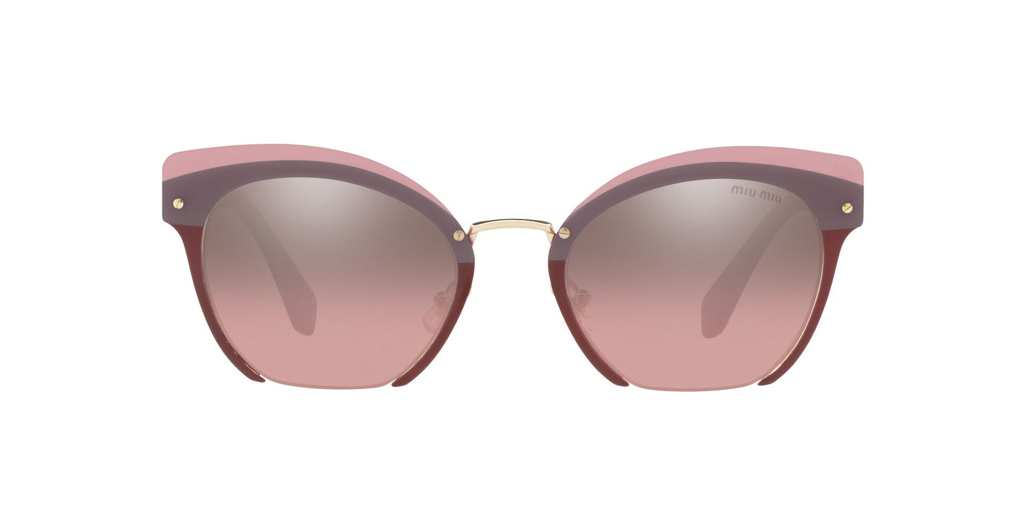 Miu Miu - MU53TS Garnet/Pink Mirror Square Women Sunglasses - 53mm