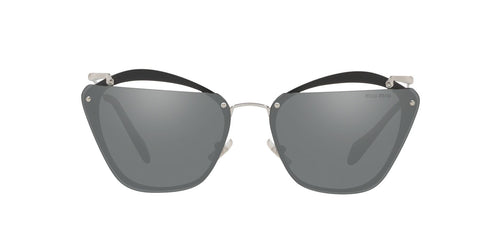 Miu Miu - MU54TS Grey/Grey Mirror Irregular Women Sunglasses - 64mm