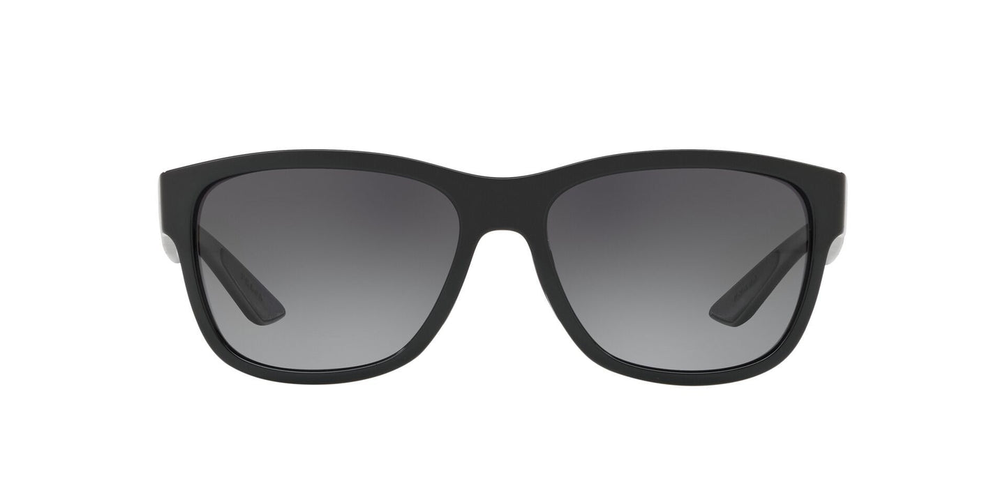 Prada Sport - PS03QS Black Rectangular Men Sunglasses - 57mm
