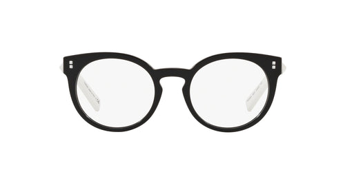Valentino - VA 3024 Black Round Women Eyeglasses - 50mm