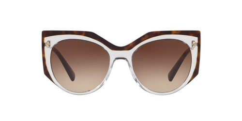 Valentino - VA4033 Crystal/Havana Irregular Women Sunglasses - 53mm
