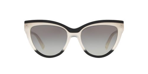 Valentino - VA4034 Black/Ivory/Black Cat Eye Women Sunglasses - 54mm