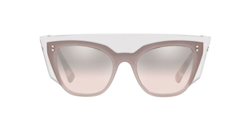 Valentino - VA4035 Trasparent/Pink/Trasparent Square Women Sunglasses - 49mm