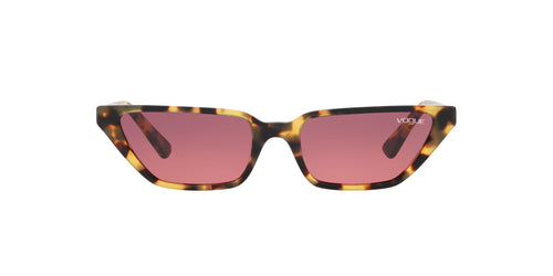 Vogue - VO5235S Brown Yellow Tortoise Cat Eye Women Sunglasses - 53mm