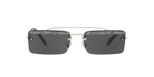 Miu Miu - MU 59TS Silver Cat Eye Women Sunglasses - 58mm