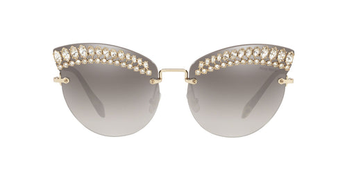 Miu Miu - MU 58TS Pale Gold Cat Eye Women Sunglasses - 65mm