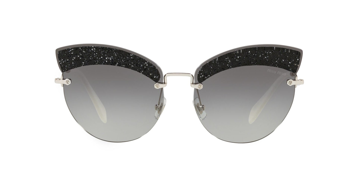 Miu Miu - MU 58TS Silver Cat Eye Women Sunglasses - 65mm