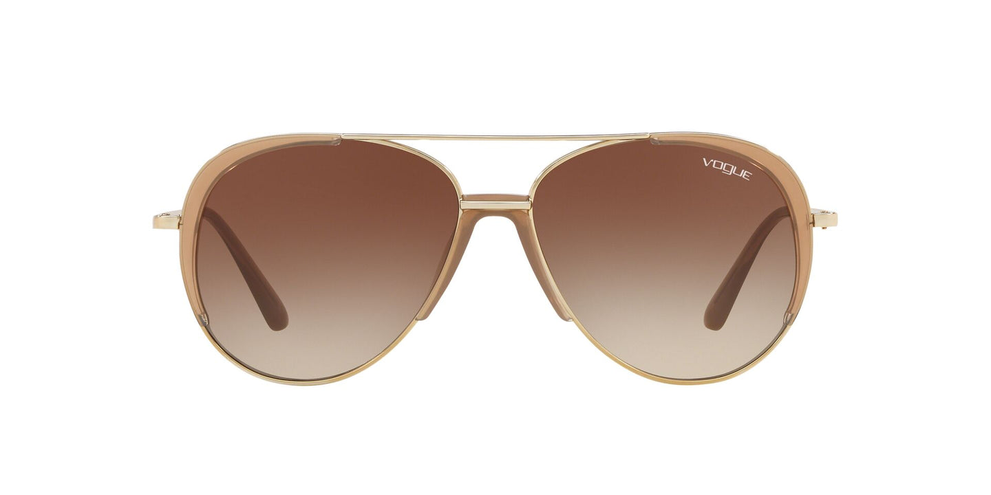 Vogue - VO4097S Pale Gold Aviator Women Sunglasses - 58mm