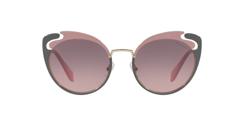 Miu Miu - MU 57TS Pale Gold/Alabaster/Grey Butterfly Women Sunglasses - 54mm