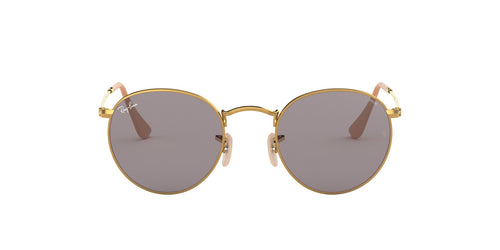 Ray Ban - Round Washed Evolve Gold/Grey Round Men Sunglasses - 53mm
