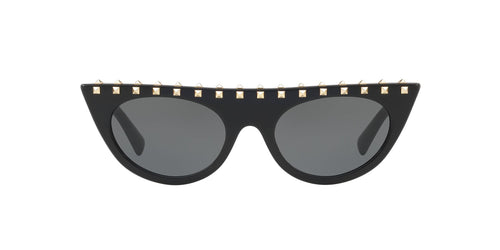 Valentino - VA4018 Black Cat Eye Women Sunglasses - 52mm