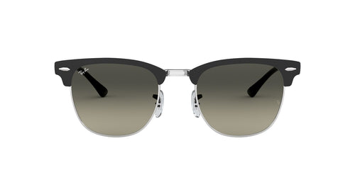 Ray Ban - RB3716 Black Silver Semi-Rimless Unisex Sunglasses - 51mm