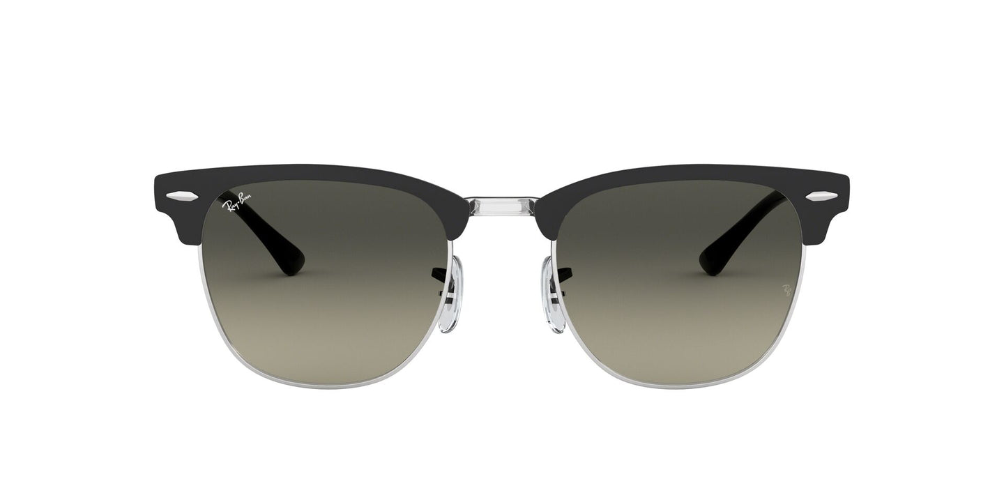 Ray Ban - RB3716 Black Silver/Gray Gradient Semi-Rimless Unisex Sunglasses - 51mm