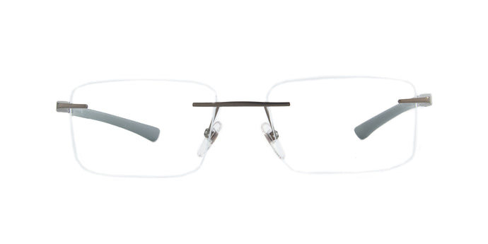 Starck - SH2035 Matte Gunmetal Rectangle Men Eyeglasses - 54mm