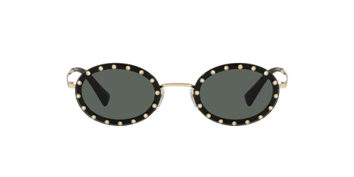 Valentino - VA2027 Light Gold Oval Women Sunglasses - 51mm