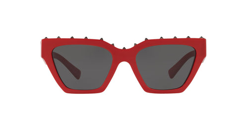 Valentino - VA4046 Red Irregular Women Sunglasses - 53mm