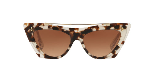 Valentino - VA4041 Havana Brown Cat Eye Women Sunglasses - 53mm