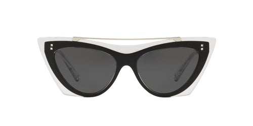 Valentino - VA4041 Crystal Black/Smoke Cat Eye Women Sunglasses - 53mm