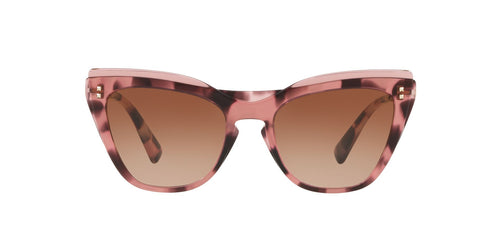 Valentino - VA4043 Trasparent Pink/Havana Pink Cat Eye Women Sunglasses - 52mm