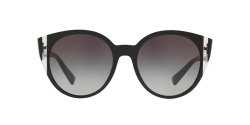 Valentino - VA4038 Black/Crystal/Black Round Women Sunglasses - 55mm