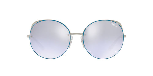 Vogue - VO4081S Silver Round Women Sunglasses - 55mm