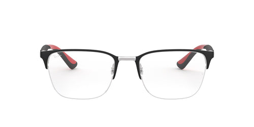 Ray Ban Rx - RX6428 Silver On Top Matte Black Square Unisex Eyeglasses - 54mm