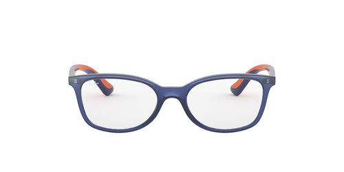 Ray Ban Rx - RY1586 Transparent Blue Pillow Unisex Eyeglasses - 47mm