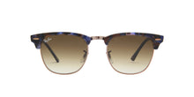 Ray Ban - Clubmaster Spotted Brown/Blue/Clear to Brown Gradient Oval Men Sunglasses - 49mm
