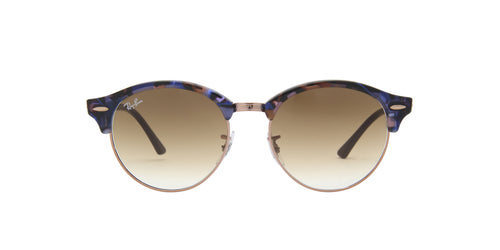 Ray Ban - Clubround Fleck Spotted Brown/Blue Phantos Unisex Sunglasses - 51mm