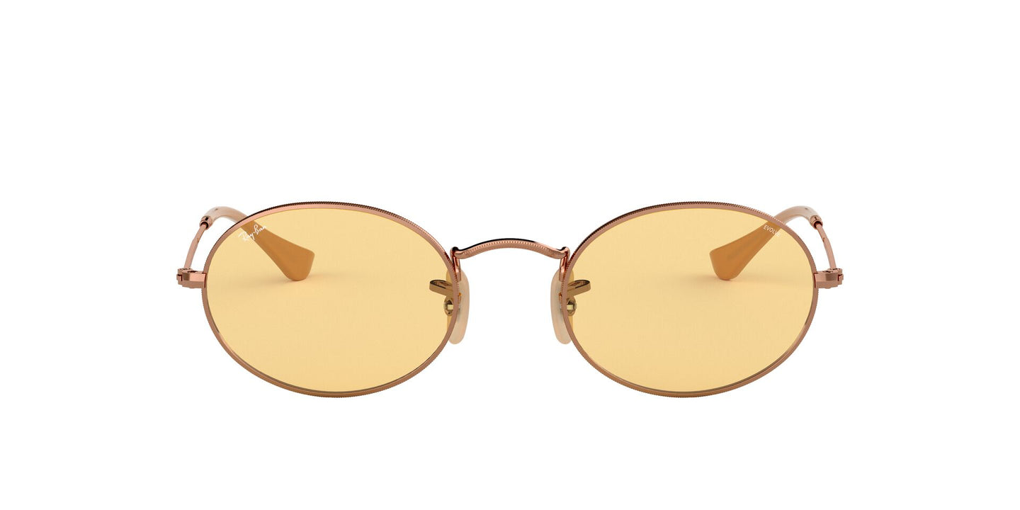Ray Ban - RB3547N Copper/Yellow Oval Unisex Sunglasses - 51mm