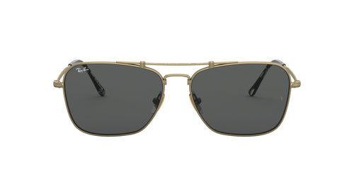Ray Ban - RB8136 Titanium Demi Gloss Antique Gold Phantos Unisex Sunglasses - 58mm