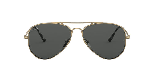 Ray Ban - RB8125 Titanium Demi Gloss Antique Gold Phantos Unisex Sunglasses - 58mm