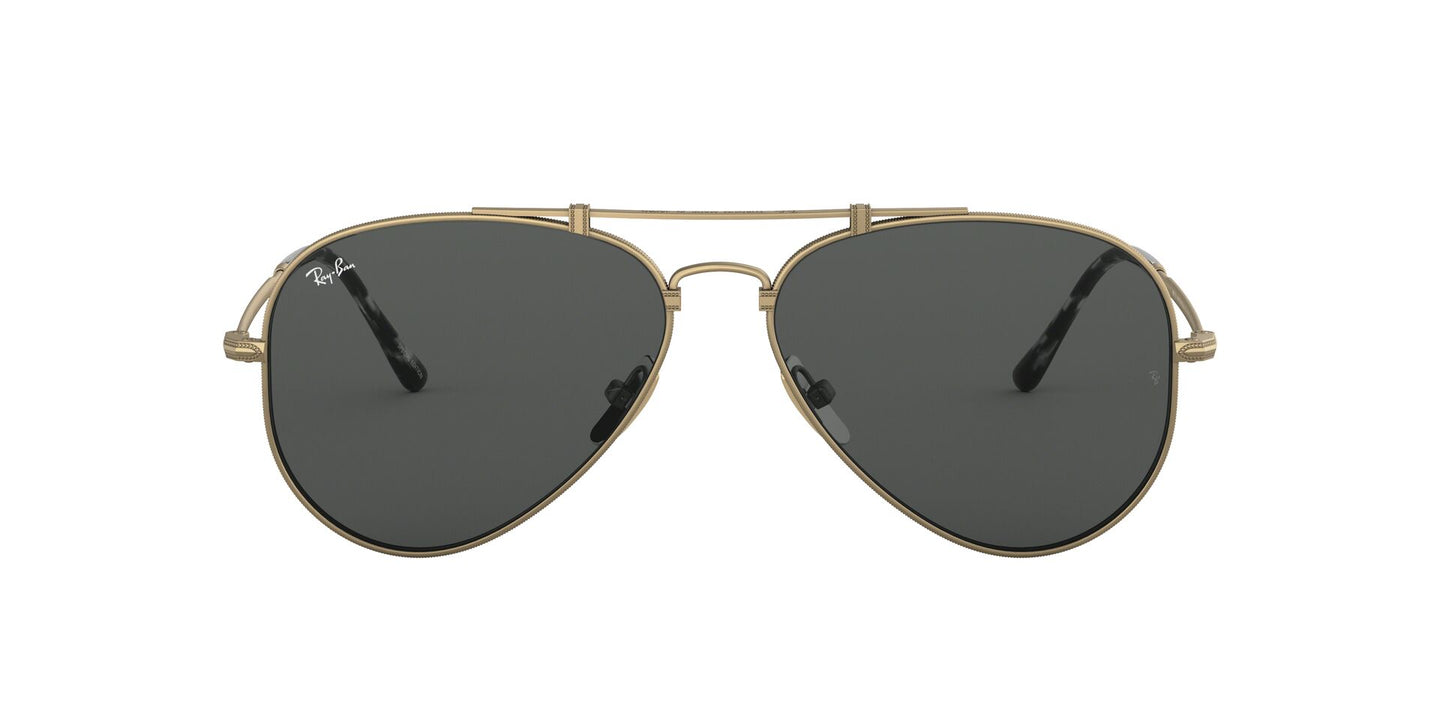 Ray Ban - Titanium Demi Gloss Antique Gold/Grey Phantos Unisex Sunglasses - 58mm
