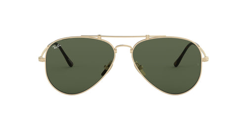 Ray Ban - RB8125 Titanium Brusched Demi Gloss White Gold Phantos Unisex Sunglasses - 58mm