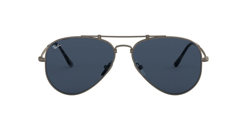 Ray Ban - RB8125 Titanium Demi Gloss Pewter Phantos Unisex Sunglasses - 58mm