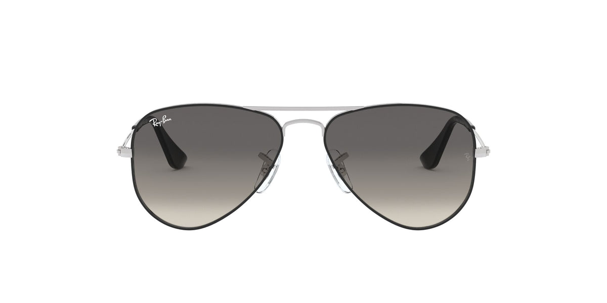 Ray Ban Jr - RJ9506S Silver On Top Black Aviator Unisex Sunglasses - 50mm