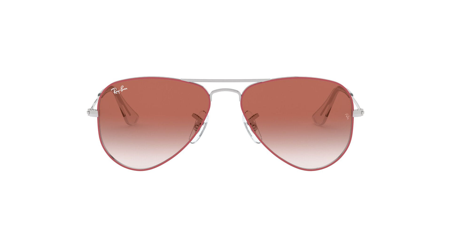Ray Ban Jr - RJ9506S Silver On Top Red Aviator Unisex Sunglasses - 50mm