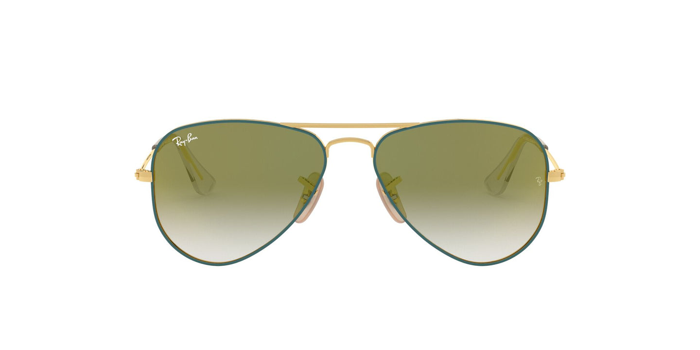 Ray Ban Jr - RJ9506S Gold On Top Turquoise Aviator Unisex Sunglasses - 50mm