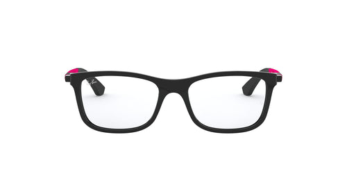 Ray Ban Jr - RY1549 Black Rectangular Kids Eyeglasses - 46mm