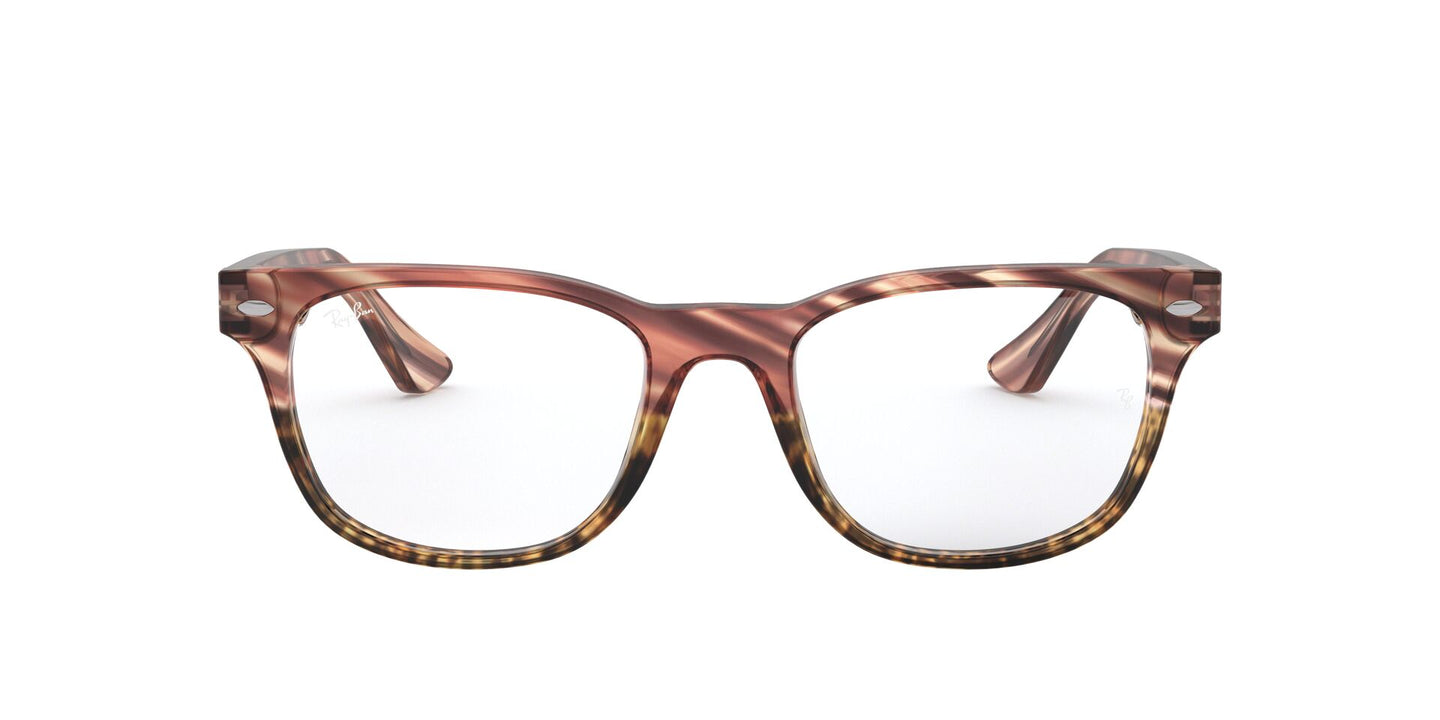 Ray Ban Rx - RX5359 Pink Gradient Striped Beige Square Men Eyeglasses - 51mm