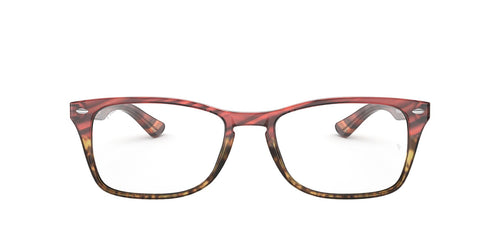 Ray Ban Rx - RX5228MF Pink Gradient Beige Stripped Square Unisex Eyeglasses - 56mm