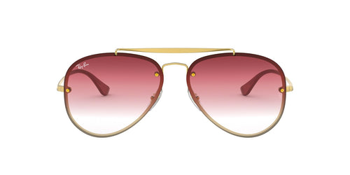 Ray Ban - RB3584N Demi Gloss Gold Aviator Unisex Sunglasses - 61mm