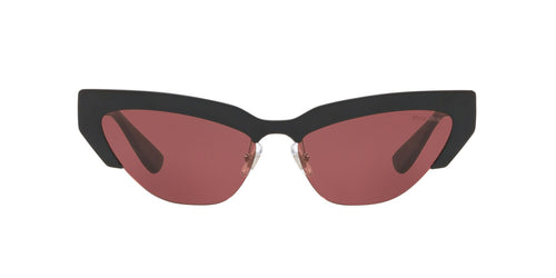 Miu Miu - MU 04US Black Cat Eye Women Sunglasses - 59mm