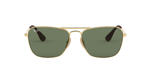 Ray Ban - RB3610 Gold Rectangle Unisex Sunglasses - 58mm